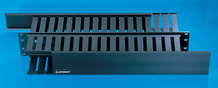 Front and Rear Finger Duct Cable Management Panel - 3 H x 3 in D front duct - 2 in H x 4 in rear duct - 3.5 in H x 19 in W - 2 rack units - black
