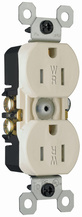 15A/125V Weather-Resistant Duplex Receptacle, Light Almond