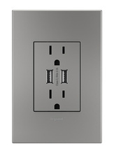 Dual-USB Outlet with Magnesium Wall Plate