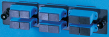 6-SC-Duplex (12 fibers) single mode adapters with ceramic alignment sleeves