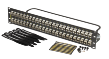 Cat6A shielded 48 port panel flat - with individual shielded keystone jacks