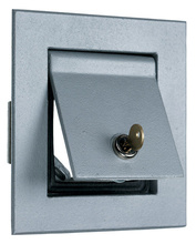 Thermoplastic/Heavy Cast Aluminum Covers Flush Enclosure, Gray