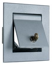Thermoplastic/Heavy Cast Aluminum Covers Flush Enclosure, Gray