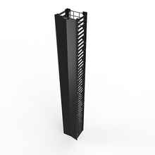 Q-Series Vertical Manager - 6 ft H x 10 in wide - single sided