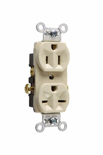 Hard Use Spec Grade Combination Receptacle, Side Wire, 15A, 125/250V, Ivory