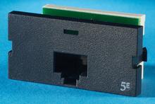 Series II, one-port Clarity 5E,T568A/B, 180 degree, black