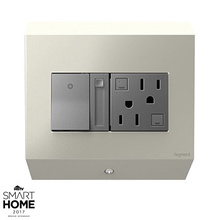 Control Box with Paddle™ Dimmer and 15A GFCI, Titanium