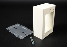 Wiremold 2000 Series Single-Gang Device Box Fitting, Ivory