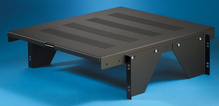 Vented Equipment Shelf for Mighty Mo Racks - 17.5 W x 5.75 in H x 20 in D - black