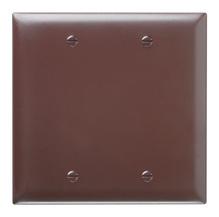 Blank Plates -- Box Mounted, Two Gang, Brown