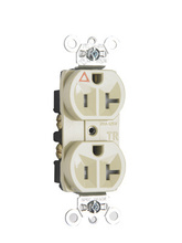 Tamper-Resistant Isolated Ground Heavy-Duty Spec Grade Receptacles, Ivory