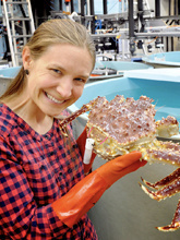 Research fisheries biologist Leah Zacher