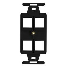4 Port Keystone Duplex Type-106 Wall Strap, Black