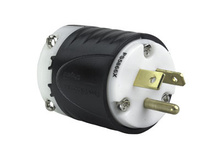 20A, 277V Extra-Hard Use Spec-Grade Plug, Black & White