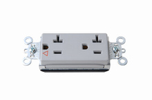 PlugTail® Isolated Ground Decorator Spec Grade Receptacles, 20A, 125V, Gray