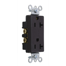 Heavy-Duty Decorator Spec Grade Receptacles, Back & Side Wire, 15A, 125V, Brown