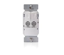 Ultrasonic Wall Switch Occupancy Sensor, 2-Button, 120/277V, White