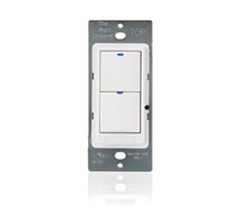 Low Voltage Switch, 2 button w /LED, white
