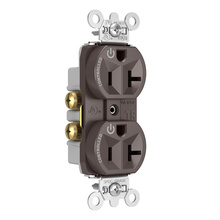 Hard-Use Spec Grade Plug Load Controllable Receptacle, 20A, 125V, Brown