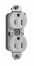 15A/125V TradeMaster Tamper-Resistant 8-Hole/Push Wire Receptacle, White (Without Ears)
