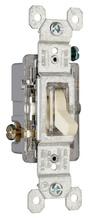 15A, 120V TradeMaster® Single-Pole/Illuminated Toggle Switch, Ivory