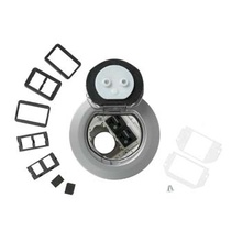 4AT Prewired Dual Service Controlled Receptacle Evolution™ Poke-Thru Device-Aluminum