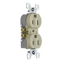 15A/125V TradeMaster® Tamper-Resistant Duplex Receptacle, Ivory