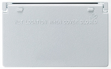 Cast Weatherproof Cover Decorator or GFCI Horizontal, White
