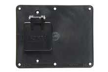 2-Gang Flip Lid 1-1.56 Opening And 1-Blank Cover Plate, Black