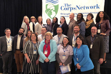 GulfCorps partners and participants together at The Corps Network conference and awards.