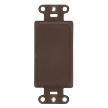 Wall Plate Inserts, Changes Decorator Opening to Blank, Box Mounted, Brown
