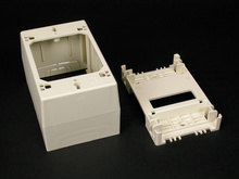 Wiremold 400/800/2300/2300D Series One-Gang Deep Device Box, Ivory