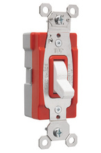 PlugTail® Single Pole 20 amp Toggle Switch, White