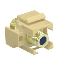 Recessed Self-Terminating F-Connector, Light Almond
