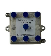 6-Way Vertical Coax Splitter (2 GHz)
