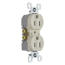15A/125V TradeMaster® Tamper-Resistant Duplex Receptacle, Light Almond