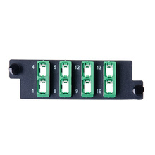 HDFP Adapter Panel with 8 MPO Adapters, Opposed Key - Green