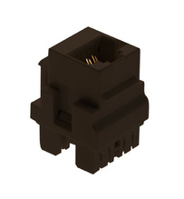 Cat 5e Keyed RJ45 Keystone Connector, Brown