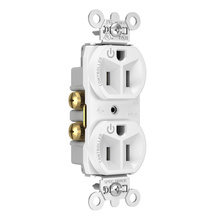 15A, 125V Dual-Controlled Plug Load Controllable Receptacle, White