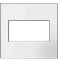 adorne® Mirror White Two-Gang Screwless Wall Plate