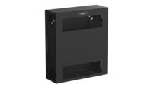 Compact Edge Cabinet, 4 RU, Perforated Door - Black