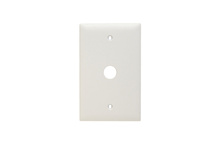 Communication Plate, One Gang, White