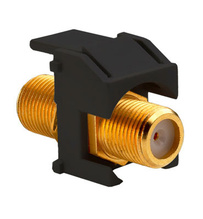 Recessed Gold F-Connector, Black