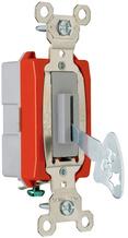 Industrial Extra Heavy-Duty Specification Grade Lock Switch Back & Side Wire, Gray