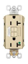 PlugTail® Hospital-Grade Tamper-Resistant 20A Self-Test Night Light/GFCI, Ivory