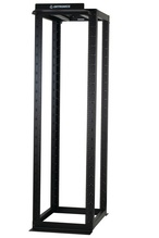 "MM20 4-Post Rack, 30"", 7 ft, 45 RU, fixed taped rails, Black"