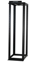 """MM20 4-Post Rack, 30"""", 7 ft, 45 RU, fixed square hole rails, Black"""