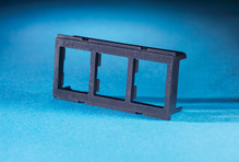 TRACJACK ADAPTER PLATE FOR FURNITURE OPENING, REAR LOAD THREE-PORT, BLACK