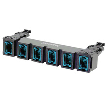 HDJ Series 6 MPO to MPO Fiber Adapter Panel, up to 144-Fiber OM3 - Aqua