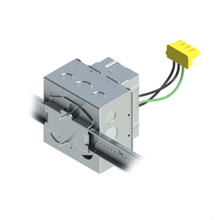 4'' Square Box with 1-Gang Adj. Plaster Ring and 1 Grounded PlugTail Switch Connector with protective mud cover - Box of 10 [EF000069]